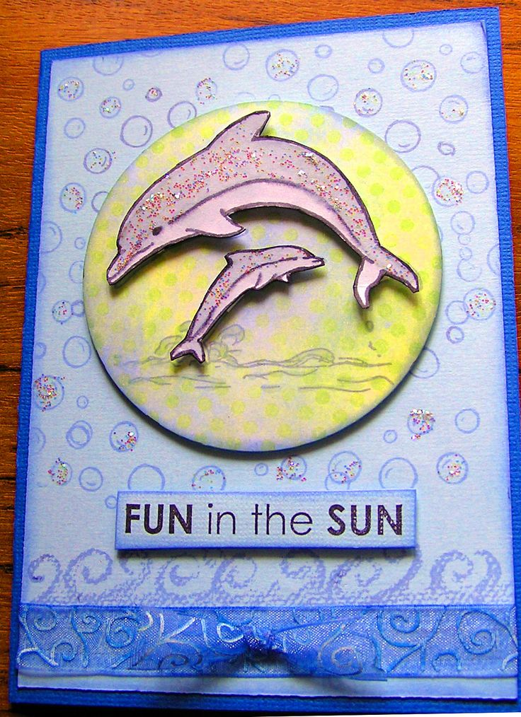 Dolphin card created using Kaszazz products