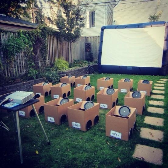 Drive in kids party. Really cool! Via Steve G.