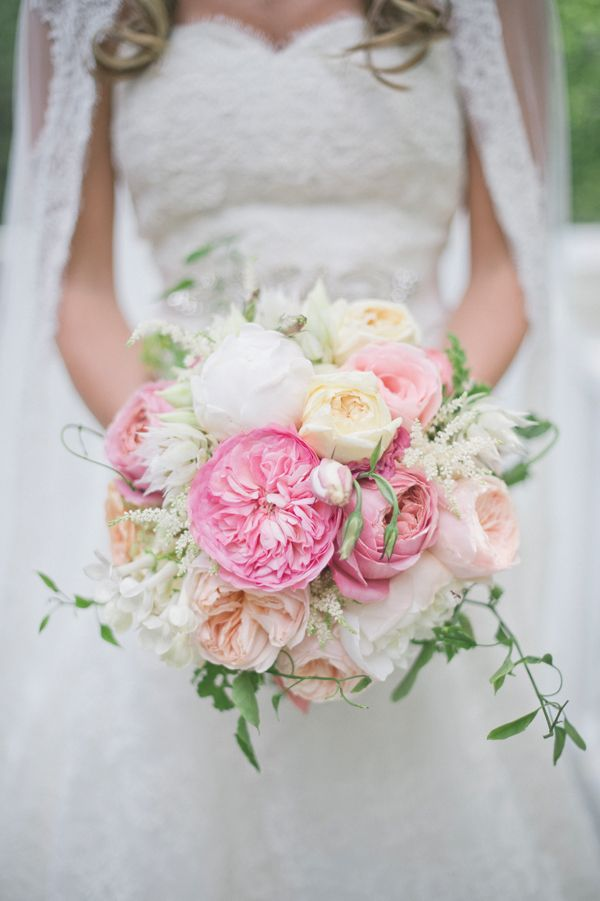 Photo by: Harwell Photo With peony blooms and blushing brides galore, this