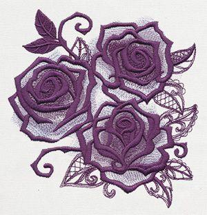 Briar Rose - Rose Triad design (UT10162) from UrbanThreads.com