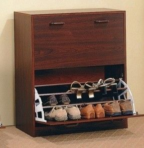 Coaster Home Furnishings Transitional Shoe Rack, Cherry