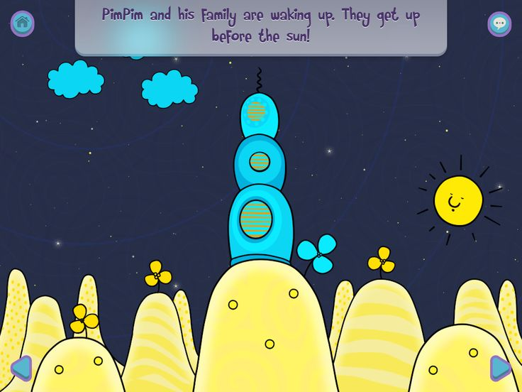 Let it roll with PimPim's Blue flower. PimPim's World is coming to the iOS app store soon! #PimPim #yellowbigmoon