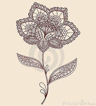 paisley flower tattoo pattern