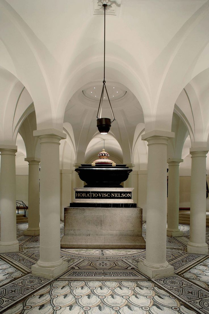 Nelson's tomb in the Nelson Chamber, St Paul's Cathedral crypt