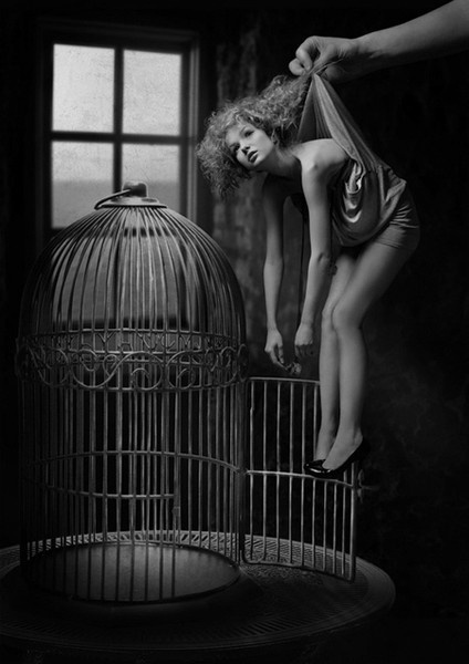 """Some take a beautiful girl and hide her away from the rest of the world"" ~Cindi Lauper    //Girl in a cage"