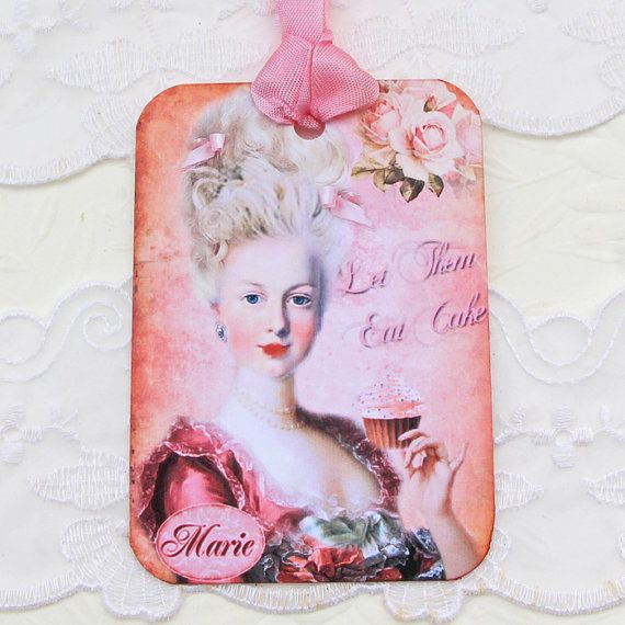 Tags Marie Antoinette Gift Hang Pink Ballgown by EnchantedQuilling