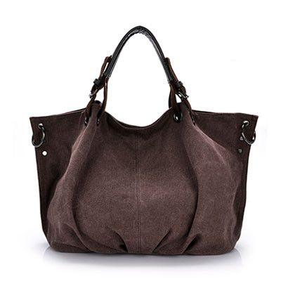 8654a360e1f8 Famous Brand Vintage Female Messenger Bags High Quality Canvas Handbag For  Women Large Capacity Travel Bag Trapeze Ruched Style