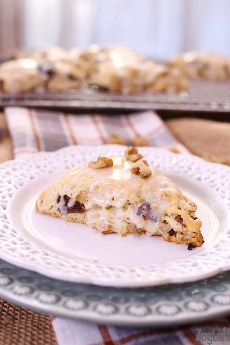 These buttery Fig and Walnut Scones topped with a sweet Maple Glaze are easy to make and perfect for breakfast or as an afternoon treat.