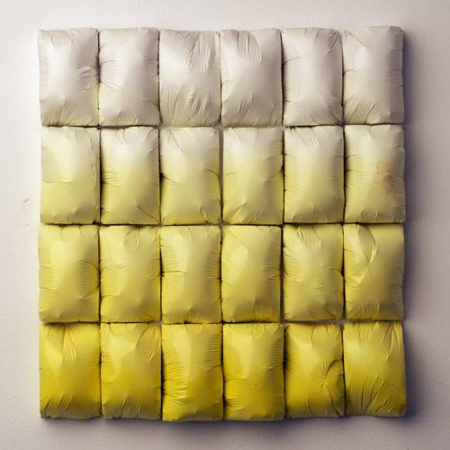 Susan Dwyer (also designs Up in the Air Somewhere) | Untitled (Yellow Fade Grid), 2009