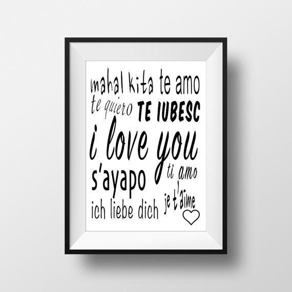 I Love you Poster Printable Home Decor Wall Art di ThatsAPoster