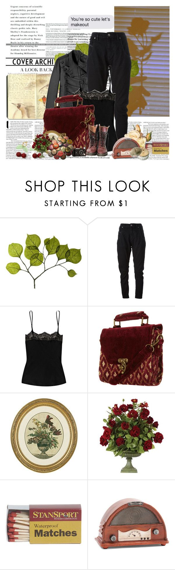 """""""you're so cute lets makeout"""" by noextrate ❤ liked on Polyvore featuring Moleskine, Dot & Bo, Balmain, Diesel Black Gold, Lover, Ethan Allen, OKA and CO"""