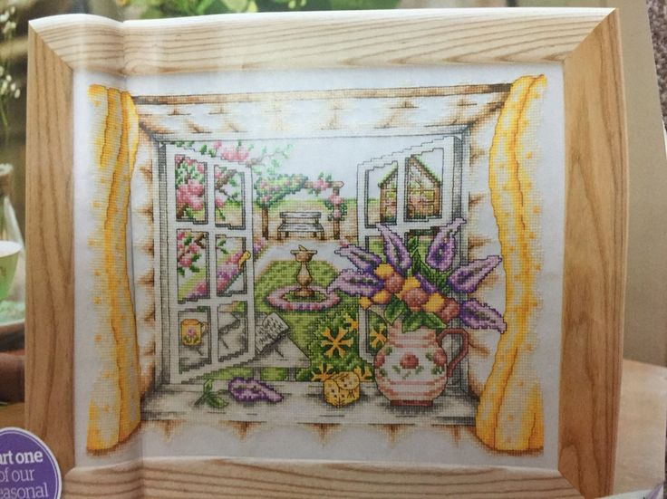 Summer Window by Susan Bates, 1 of 4. Chart in WOX issue 191