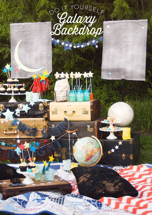 Star Gazing party ideas from Confetti Sunshine blog. I could meld this into a moon party!