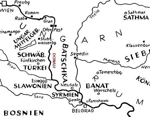 Donauschwaben Region Map
