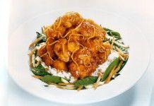 Geleneksel Çin Yemeği-Turuncu portakallı tavuk yemeği