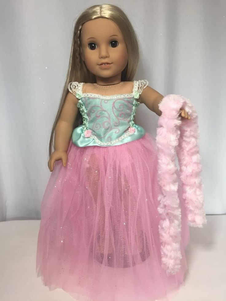 """Beautiful Mint And Pink tutu dress American Girl Doll clothes fits all 18"""" dolls"""