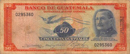 Guatemala-1971-50-Quetzales-P-56