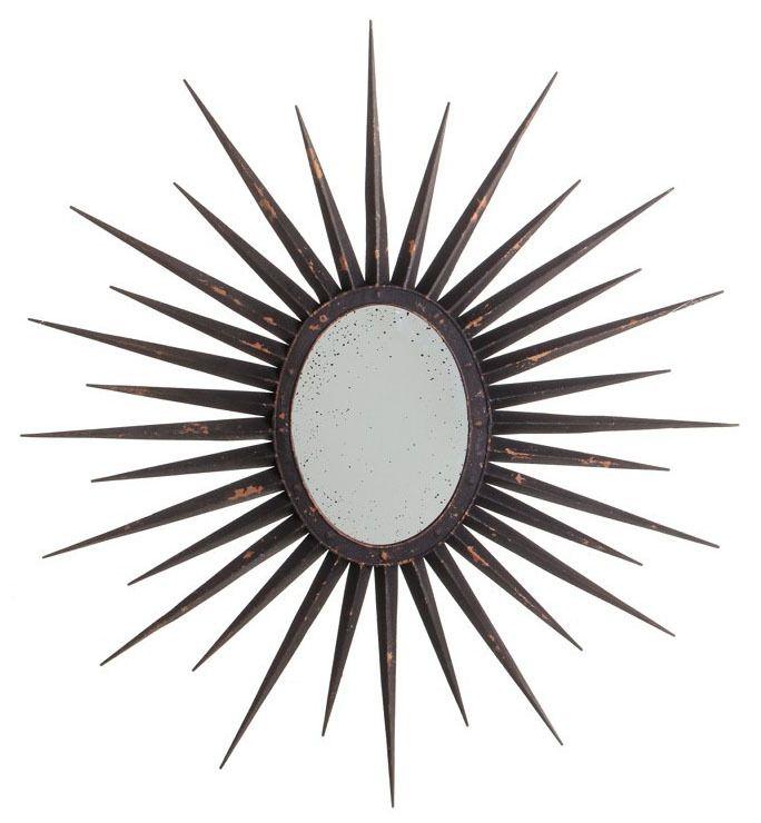 Espejo sol decorativo dorado vintage | espejos dorados