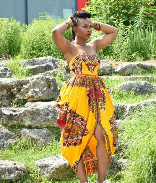 Rahyma Jezreel Dashiki Padded Bustier Maxi Dress zuvaa.com ~African fashion, Ankara, kitenge, African women dresses, African prints, Braids, Nigerian wedding, Ghanaian fashion, African wedding ~DKK