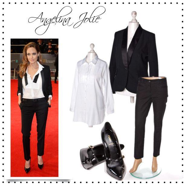 Angelina #Jolie Style #wzorcownia #dress4less