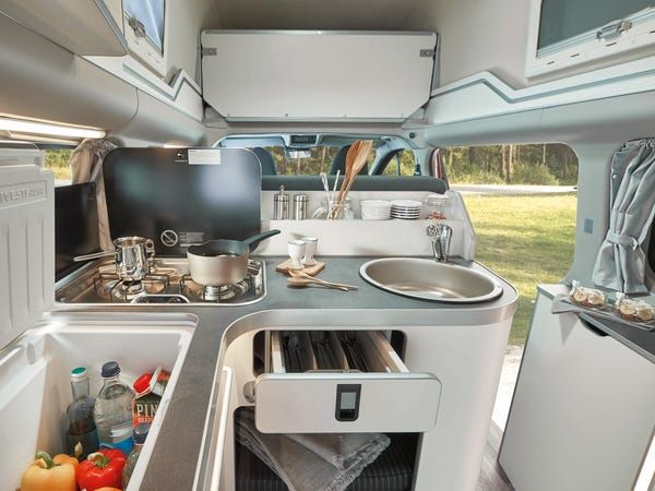Ford Built A Transit Van Called Nugget That Doubles As A Tiny Home That Can Sleep Up To 4 People Ford Transit Transit Custom Ford Transit Custom Camper