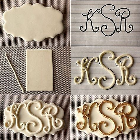 How to make letters for gumpaste and fondant monograms. Cake decorating tips and tricks
