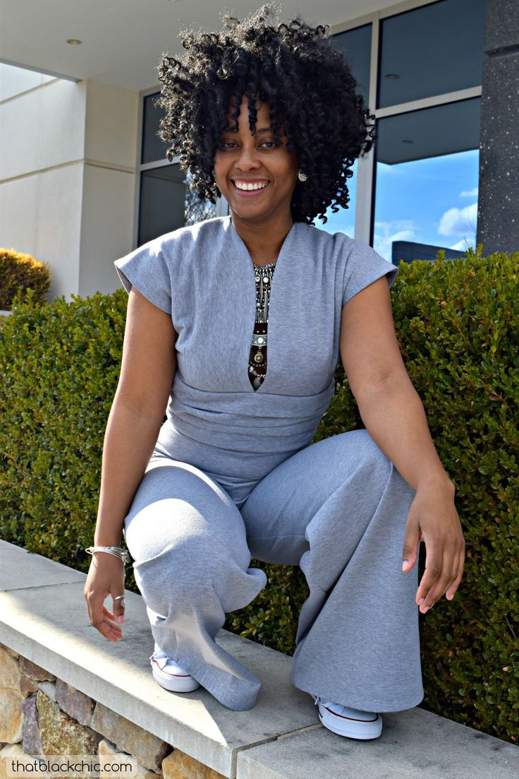 "DIY Jumpsuit [""Keira Ramel Jumpsuit"" by Nina Ramel Patterns] Link to blog: http://www.thatblackchic.com/2017/02/diy-jumpsuit-keira-ramel-jumpsuit-by.html"