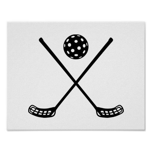 Floorball Player Ball sports Hockey Clubs field racket sticks crossed