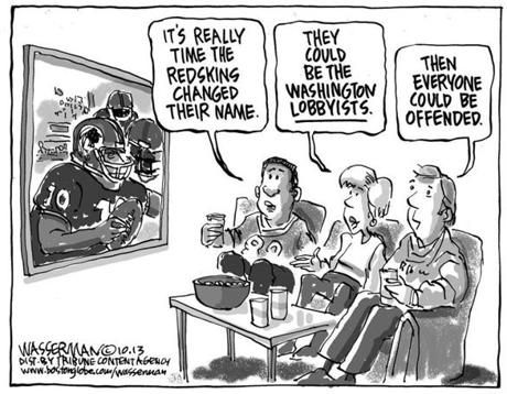 Editorial cartoon: Redskins name change