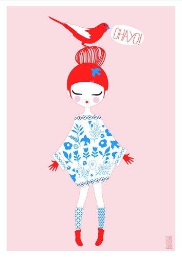 Illustratie OHAYO birdy | IzumiIdoiaZubia