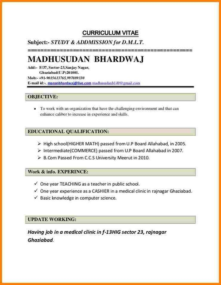 Best 25+ Resume format for job ideas on Pinterest Format for - job resume format