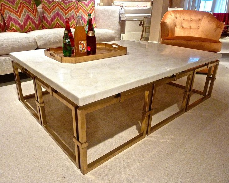 Get Glamour galore in gold and marble with this jewel-like coffee table from Century's World Tour collection designed by Pride Sasser. Market Square 500 #HPmkt