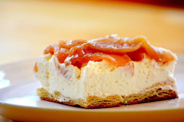 Feuilleté à la mousse de mascarpone et pommes caramélisées