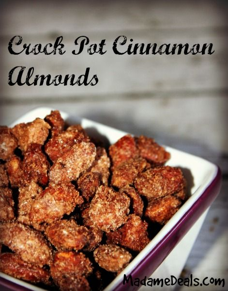 Have a delicious healthy snack to munch on, check out this Crock Pot Cinnamon Almonds Recipe