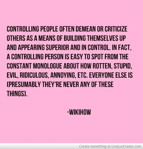 Image result for a narcissist tries to control everything