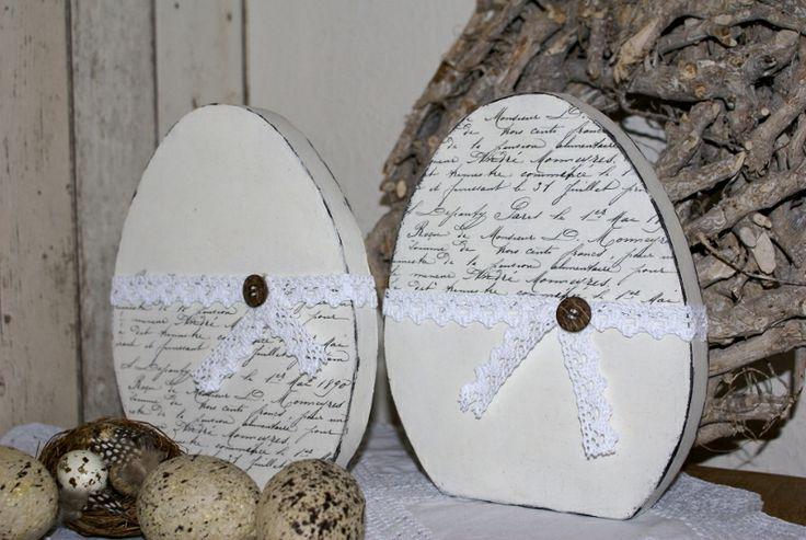 Zwei+Ostereier+Shabby+Chic+von+white-living-art+auf+DaWanda.com