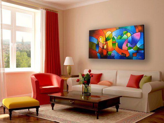 Large Contemporary Modern Art Original Abstract Painting Etsy Abstract Painting Print Modern Art Paintings Abstract Geometric Painting