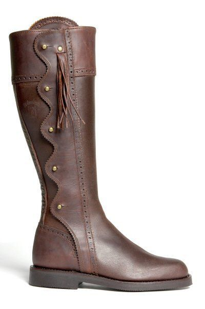 Spanish Riding Boots wave: Brown (flat sole) #spanish-riding-boots