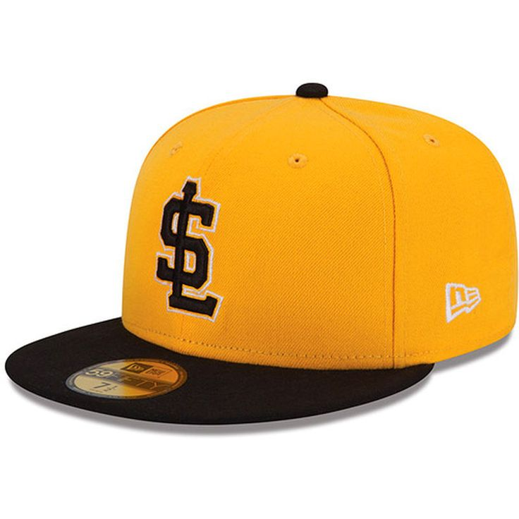 Salt Lake City Bees New Era Authentic Collection On Field 59FIFTY Fitted Hat - Gold/Black