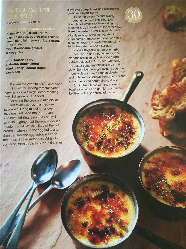 Parmesan and Thyme Creme Brûlée