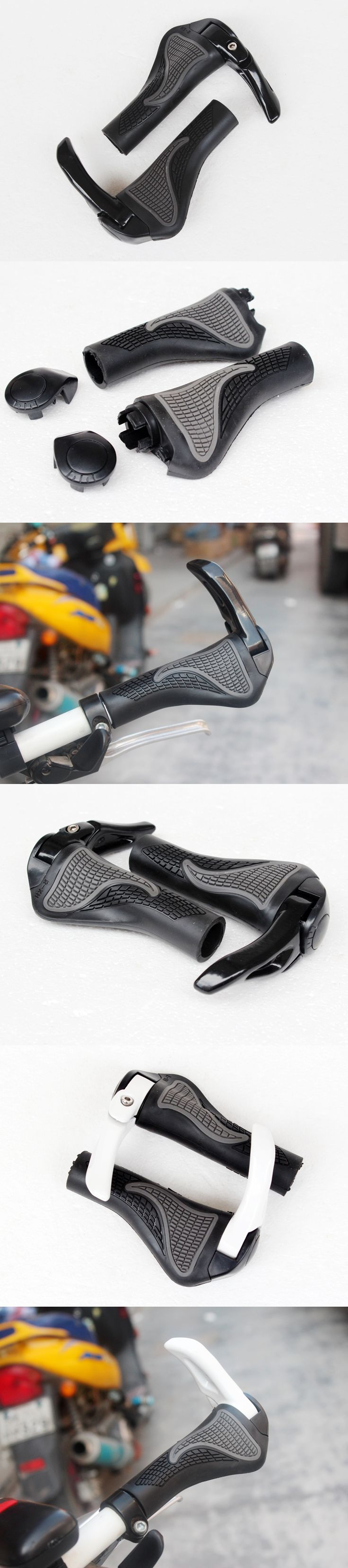 1 Pair Cycling MTB Mountain Road Bike Bicycle lock-on carbon Handlebar Cover Handle Grip Bar End Grips bicycle parts 2 Colors