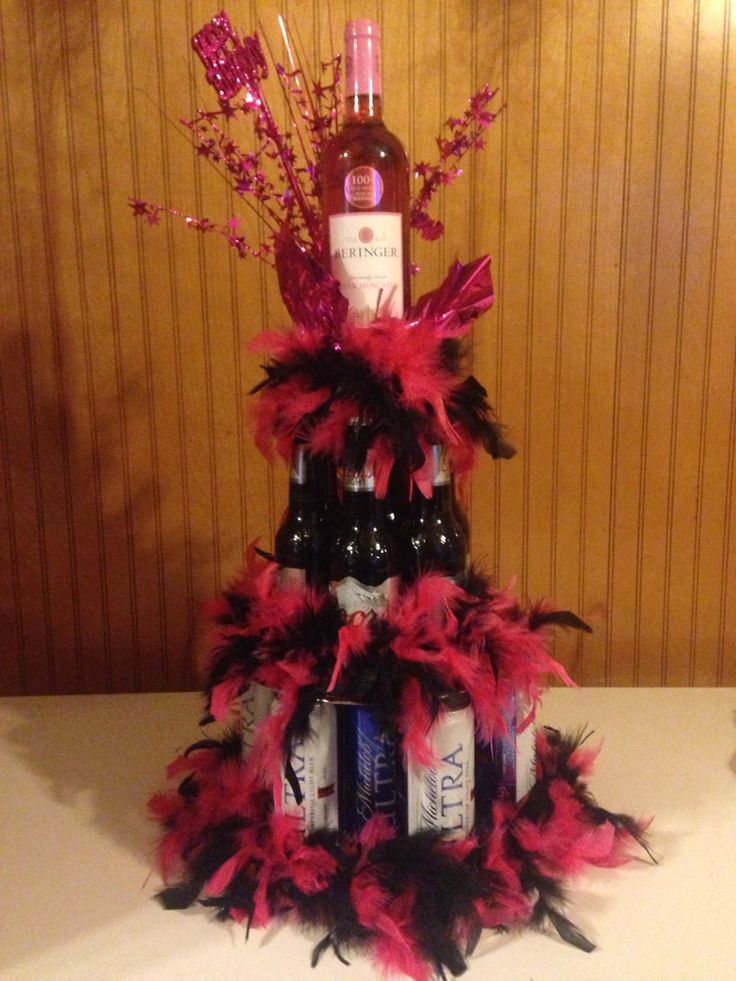 Adult birthday alcohol cake for a friend