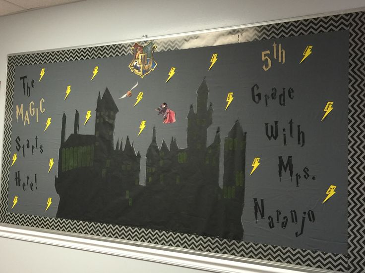 Harry Potter welcome back to school bulletin board