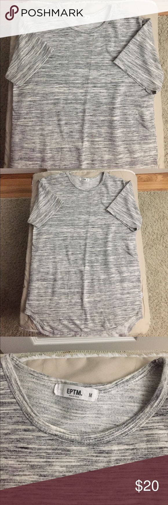 EPTM scallop T-shirt men's size medium EPTM scallop T-shirt men's size medium. Used in very good condition no stains holes or tears. Send me a reasonable offer! EPTM Shirts Tees - Short Sleeve