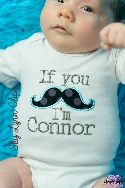 Personalized New Baby Mustache My Name Take Home by SkyLynnCo