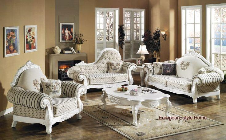 antique upholstery living room furniture,European style handcraft - antique living room sets