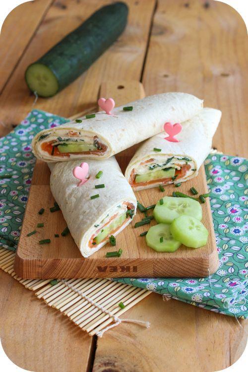 Wraps saumon fumé concombre fromage frais (1)