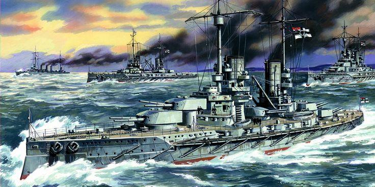 SMS Grosser Kurfürst un acorazado de la clase König, cortesía de ICM. Más en www.elgrancapitan.org/foro