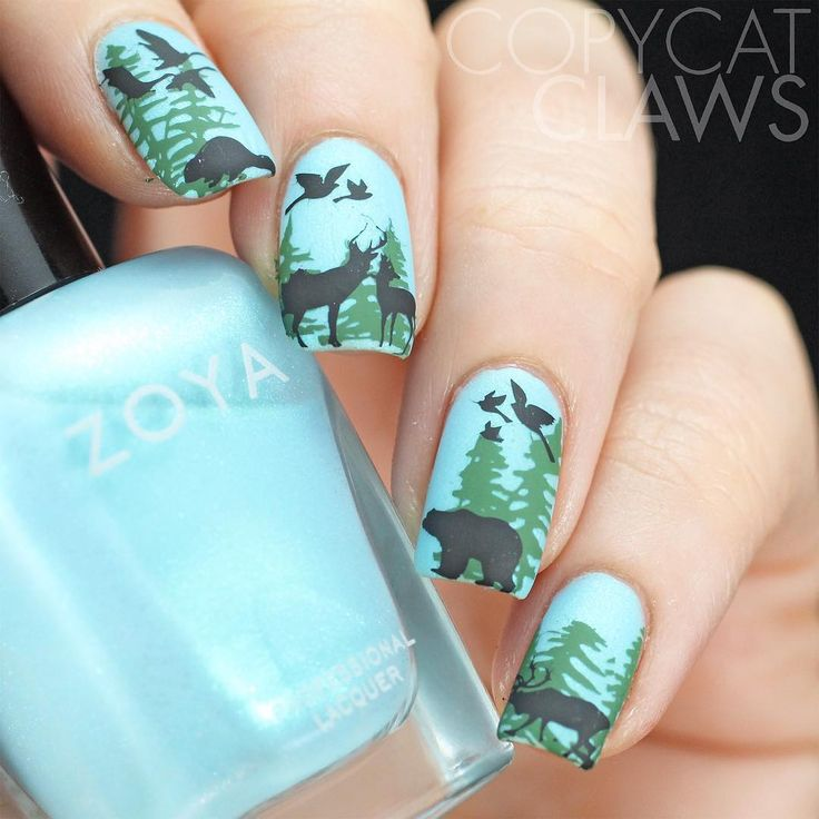 949 best nail art images on pinterest nail designs salons and chic for this week were doing animals i have a whole bunch of animals that ive either seen at the lake or on the road to the lake all stamped stamped from prinsesfo Gallery