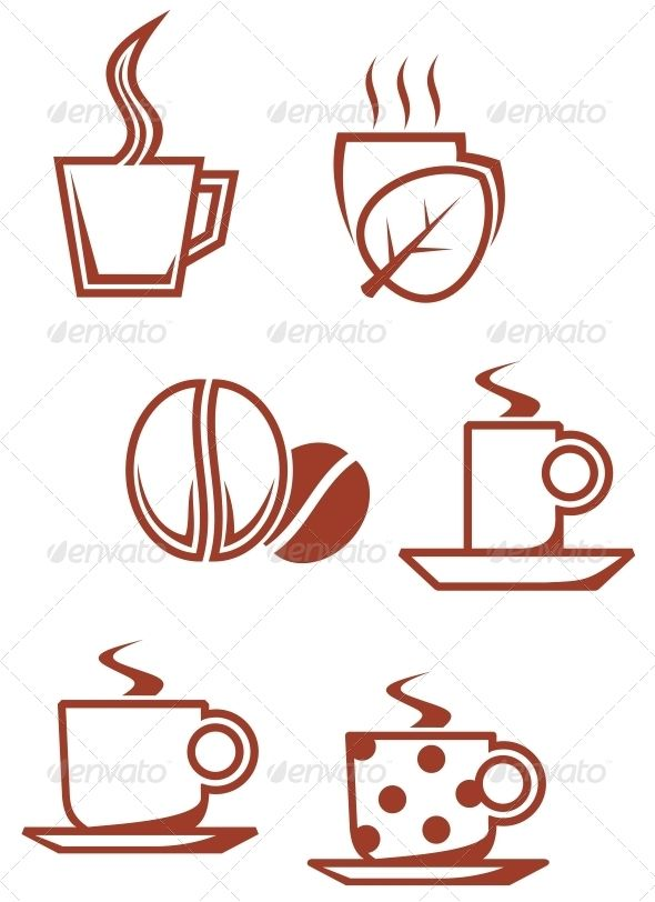 Tea and coffee symbols  #GraphicRiver         Set of tea and coffee symbols for design. Editable EPS8 (you can use any vector program) and JPEG (can edit in any graphic editor) files are included  	 SPORTS  	                                            	 MASCOTS  	                                            	 MEDICINE  	                              	 FOOD  	                                            	 LABELS  	                                            	 WEDDING  	                      	…